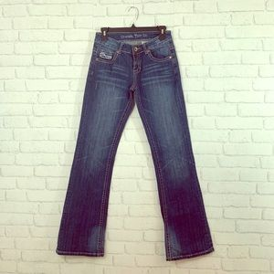 """Cowgirl tuff """"don't fence me in"""" jeans size 27!"""